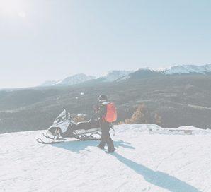 Admirez une vue panoramique lors de votre randonnee en motoneige aux orres